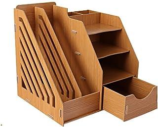 KANJJ-YU Journaux bureau Racks Fournitures de bureau supports à journaux Type de tiroirs livre étagère créatif Porte-docum...