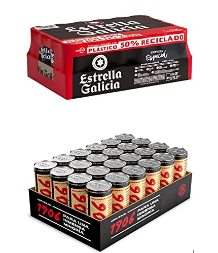 Cerveza Estrella Galicia Especial pack de 24 latas de...