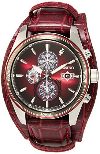 [セイコーウォッチ] 腕時計 セイコー セレクション モンスターハンター15周年コラボ レオレウス ソーラー クロノグラフ ウオッチパッド・メッセージカード付 シリアルナンバー入り SBPY155 メンズ レッド