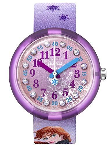 Flik Flak Unisex Analog Schweizer Quarz Uhr mit Textil Armband FLNP031