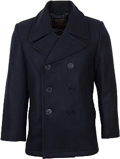 Mil-Tec Us Navy Pea Coat Tuch, Giacca Uomo
