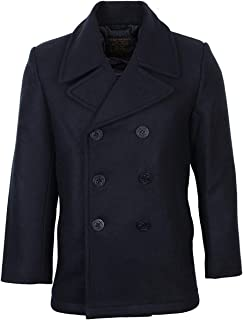 Mil-Tec Men's US Navy Pea Coat Black
