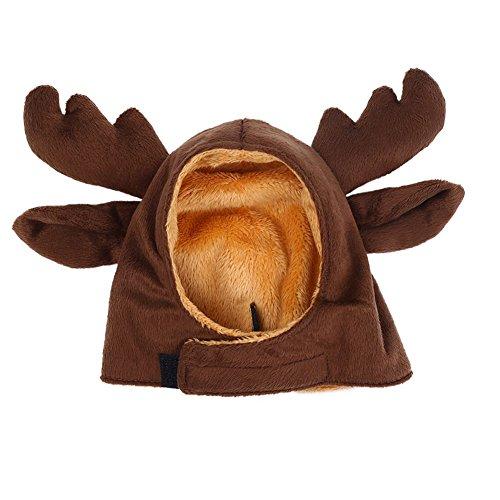 Bello Luna Casquillo del sombrero del alce del animal doméstico para el pequeño perro y el gato, sombrero de las...