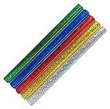 Idena 60054 - Klebefolie Hologramm in rot, grün, blau, gold und silber, 5 Rollen, je 1 m x 33 cm, selbstklebend, ideal zum Basteln und Dekorieren