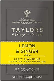 Taylors of Harrogate Lemon & Ginger Herbal Tea, 20 Count (Pack of 6)