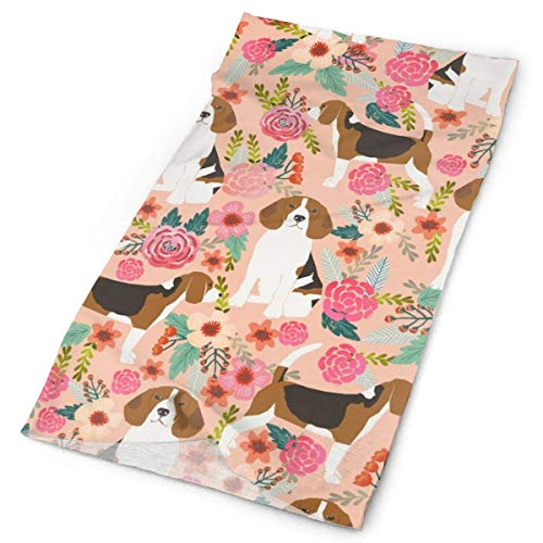 NA Beagle Bloemen Bloemetjes Beagles Huisdieren Hond Honden CuteFacial Hoofdband Make Up Wrap Hoofd Terry Doek Hoofdband Stretch Handdoek make-up Haarband Sport