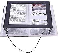 QIANG 高清放大 ライト付き大型ポータブル理想拡大鏡LED拡大鏡無料ハンズフリーはブック、ジュエリー制作、コインを調べる、地図、新聞のための読書拡大鏡スタンド