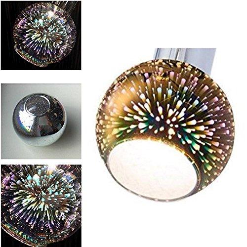 4er Set Lampenschirm , Glas , Ersatzglas , Schirm , Ersatzschirm , Lampenglas für Pendellampe , Tischlampe , Fluter, Leuchte , mit Firework Effekt (4er Set)