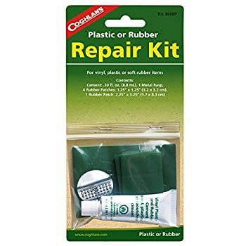 Coghlan s Plastic or Rubber Repair Kit w/ 0.3fl.oz Rubber Patches  2-Pack