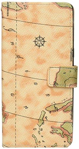 PLATA Galaxy Note8 SC-01K / SCV37 ケース 手帳型 地図柄 世界地図 デザイン スタンド カバー DSC01K-53-01