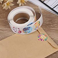 XYUANG 500Pcs/Roll Thank You Stickers Tags Wedding Decoration Lables Stationery Stickers Envelope lable 1inch/2.5cm