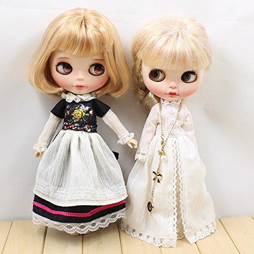 Dolly Para ブライス/AZONE/リカちゃん/桃子共通 ドール衣装  イギリス風メイド服 お姫様ドレス (お姫様ドレス)