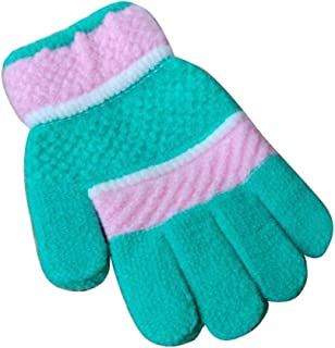 Winter Baby/Children Cute Mittens, Wool Knit Five Fingers Warm Gloves, 02