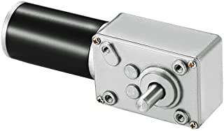 Greartisan DC 12V 5RPM 15Kg.cm 8mm Single Shaft Single Shaft Self-Lock قفل شونده موتور چرخ دنده برگشت پذیر با کابل ، موتور کاهش سرعت گشتاور بالا ، موتور گیربکس برقی توربین