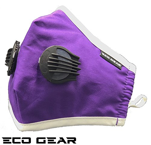 Anti Pollution Face Mask Eco-Gear Particulate Respirator | Washable 2 Filters