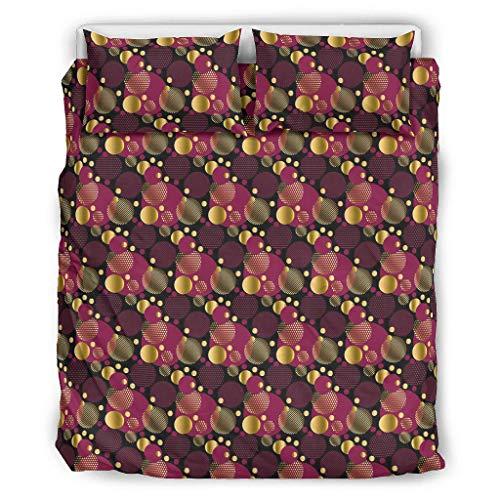 Yuloksecy Juego de funda de edredón de 3 piezas, diseño de puntos de onda, suave, cómodo, ligero, con fundas de almohada para todas las estaciones, color blanco 90 x 90 pulgadas