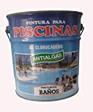 Pintura azul para piscinas al Clorocaucho con ANTIALGAS. 4 Lt. (5 Kg.)
