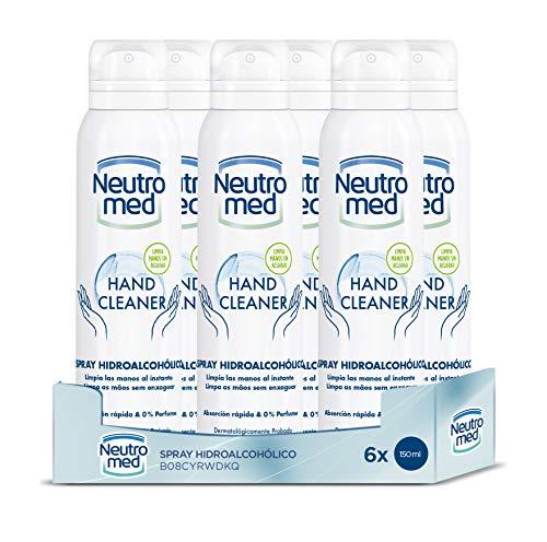 Neutromed - Spray Hidroalcohólico – 6uds 150ml (900ml) – Limpia tus manos al instante – Fragancia a limpio y fresco