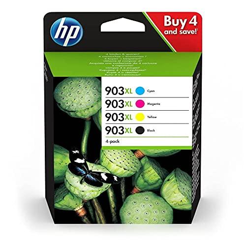 HP 903XL - Cartuchos de tinta originales XXL para HP Officejet y HP Officejet Pro