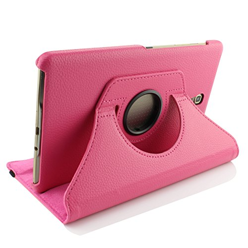 Urcover® Schutzhülle kompatibel mit Samsung Galaxy Tab S 8.4 T700N T705N [ 360 Grad Hülle + Standfunktion ] Smart Cover Kunststoff Wallet Pink