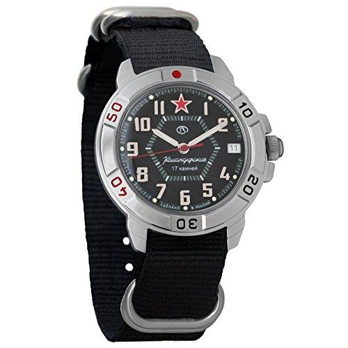 Vostok Komandirskie 2414 Hand-Winding Mechanical Russian Military Mechanical Watch // 431744 (Black)