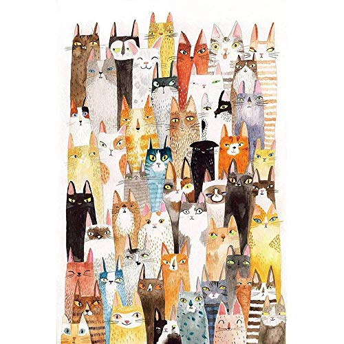 Designs The Cats Of Funny Jigsaw Puzzle For Adults Funny Kitten Cats Pattern Kids Puzzles Toys Games - BookShelf The Literate 1000 Piece Puzzles Learning Education For Girls Boys Gift