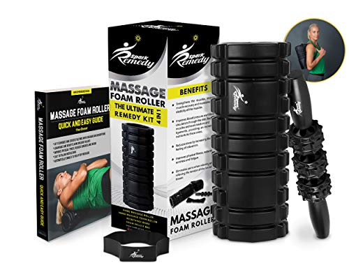 Spark Remedy Foam Roller Set – Muscle Stick for Trigger Point Self Massage & Tension...