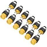 Extension Cord Electrical Wire Repair End 15 Amp, 125 Volt | 6 Sets Male Female 3-Prong Grounding Replacement Connectors Set | Safety-Rated Connection | Triple-Drive Screws for Easy Installation.