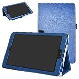 Mama Mouth PU Leder Folio 2-folding Ständer Cover mit Stylus Halterung für 20,3cm LG G Pad X II 8.0Plus T-Mobile V530Android 7.0Tablet blau dunkelblau