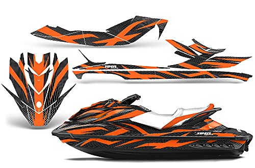 AMR Racing Jet Ski Graphics kit Sticker Decal Compatible with Sea-Doo GTI SE130 2011-2019 - Zooted Orange Black