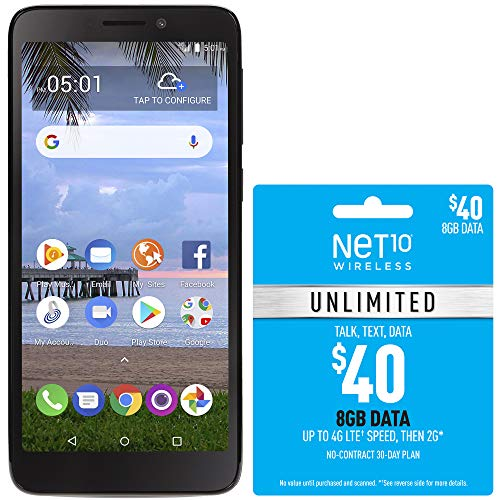 Net10 TCL LX 4G LTE Prepaid Smartphone with $40 Airtime Bundle