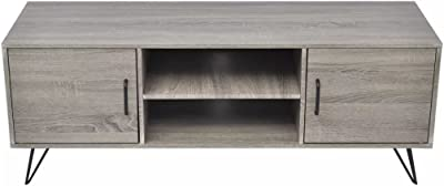 TV Cabinet Side Cabinet Console Table Festnight Sofa Table Living Room Furniture 120x40x45 cm Grey
