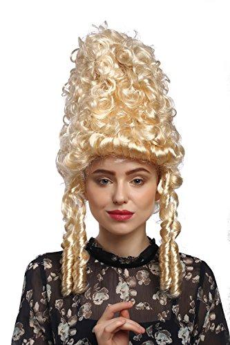 WIG ME UP - 90867-ZA88 Perücke Damen Karneval Fasching Historisch Barock blond lockig Marie...