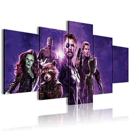 CNLB 5 comune pittura 3D HD stampa tela Avengers Infinity War Camera da letto decorazione 150x80cm Con cornice