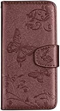 KINGCOM-Wallet Cases - Flip Cover Wallet Case For ZTE Blade L5 Plus Zmax Pro Z981 Z988 Fundas Bags For for iPhone 11 Pro Max SE 2020 6 6S 7 8 Plus (Brown With Mirror For iPhone X or XS)