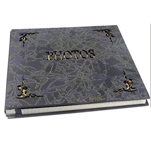 MYMAO 01DIY Vintage Album Holle Goud Grote Scrapbook Fotoalbum met Zwart 20 Bladen/40 Pagina's