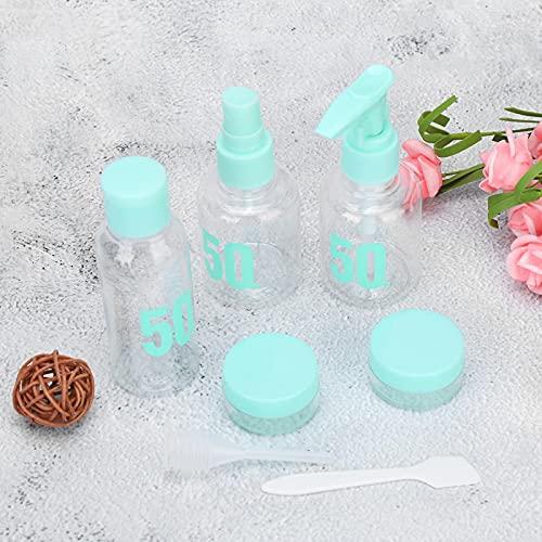 Qqmora Mini envase de Crema Botella de champú de 7 Piezas para Maquillaje para Viajes para aromaterapia para Limpieza