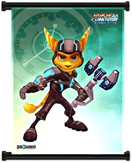 Ratchet & Clank Future: A Crack In Time Game Fabric Wall Scroll Poster (16