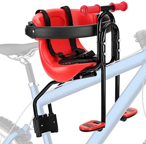 Qearal Seggiolino per Bicicletta per Bambini, seggiolino per Bici Anteriore per Mountain Bike