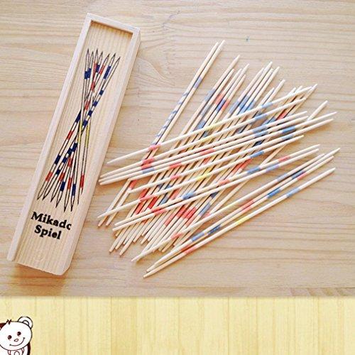 KinshopS Baby Educational Wooden Mikado Spiel Pick Up Sticks Classico con Scatola di Gioco