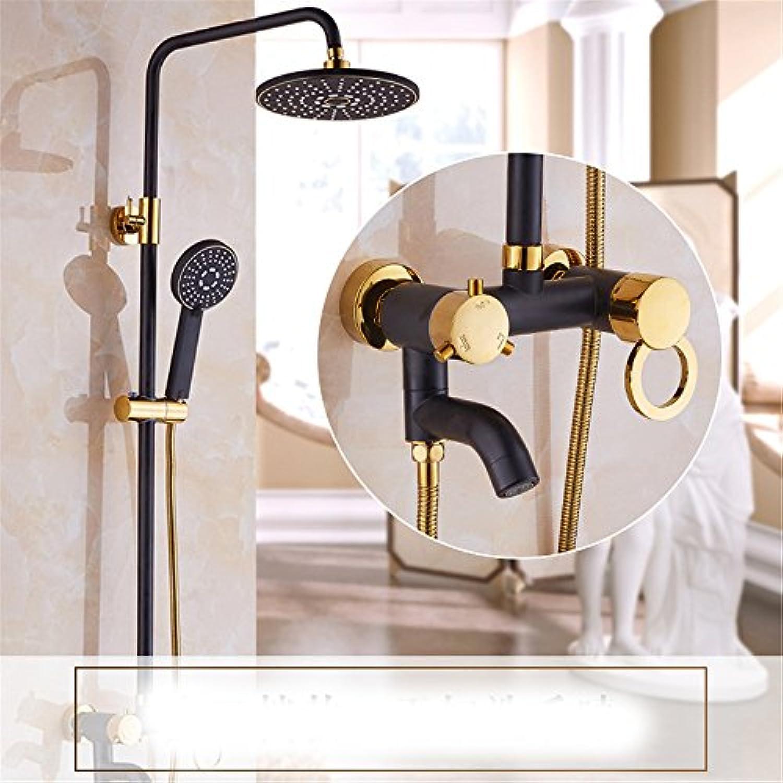 Europischen stil retro - dusche, toilette hngen wand, warme und kalte dusche, toilette düse, duschkpfe, schwarz,d