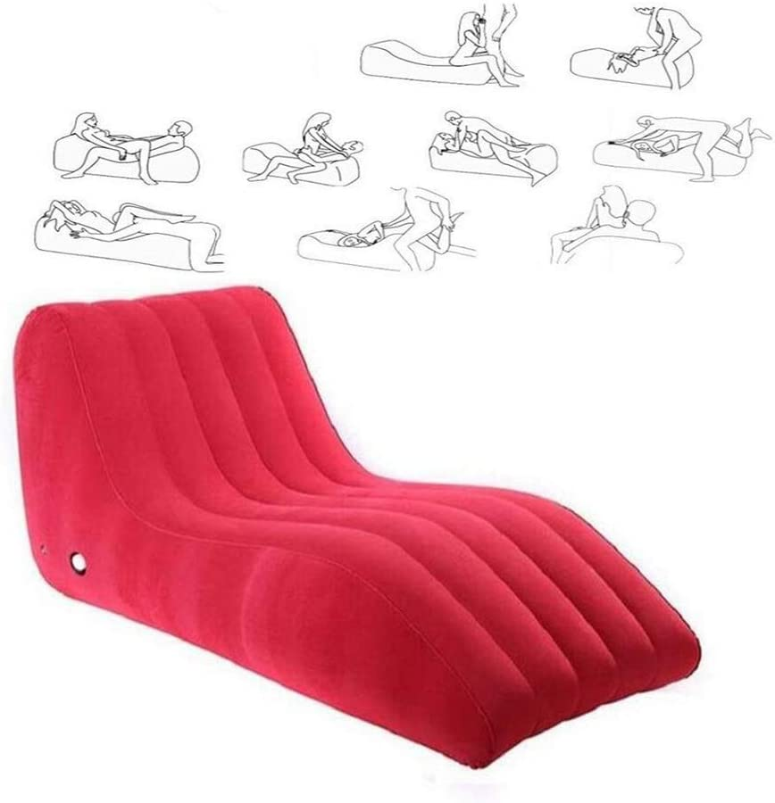 Amazon Com Sex Furniture Inflatable Sex Sofa Chair S Shaped Mattress Adult Game Sexy Furniture Love Chairs Intercourse Sofas Bed For Couples Red Home Kitchen