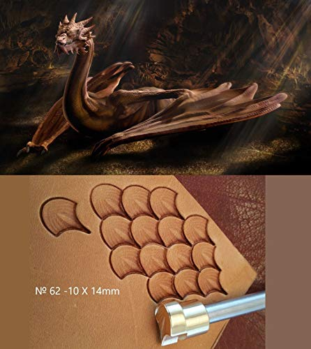 Dragon Scale Leather Crafting Stamp Tool for Leather Crafts Brass #62