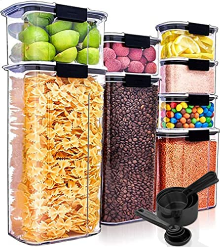 discount Pantry Organization and Storage Food Storage Containers with Lids Airtight Food Storage Containers 8 Pack Cereal Containers Storage outlet sale Set Kitchen Organization and sale Storage Kitchen Storage Containers online sale