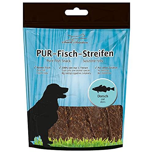 Pur kaustreifen Cabillaud chien Snack 100% gluten et de getreidefrei Idéal pour chiens (-Races) sensibles et personnes allergiques