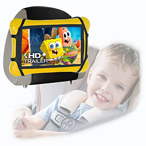 """Car Tablet Holder,HOZOMT Car Headrest Mount Holder for Kids,Multi-Angle Universal Car Back Seat Stand Holder for Kindle,Fire HD,Nintendo Switch,IPad Mini,Galaxy Tablet,or other 7""""~9.7"""" Screens Devices"""