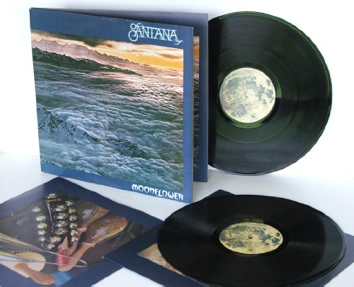 SANTANA moonflower Double album with picture inner sleeves and Santana advert insert.Top copy. First UK pressing. 1977.