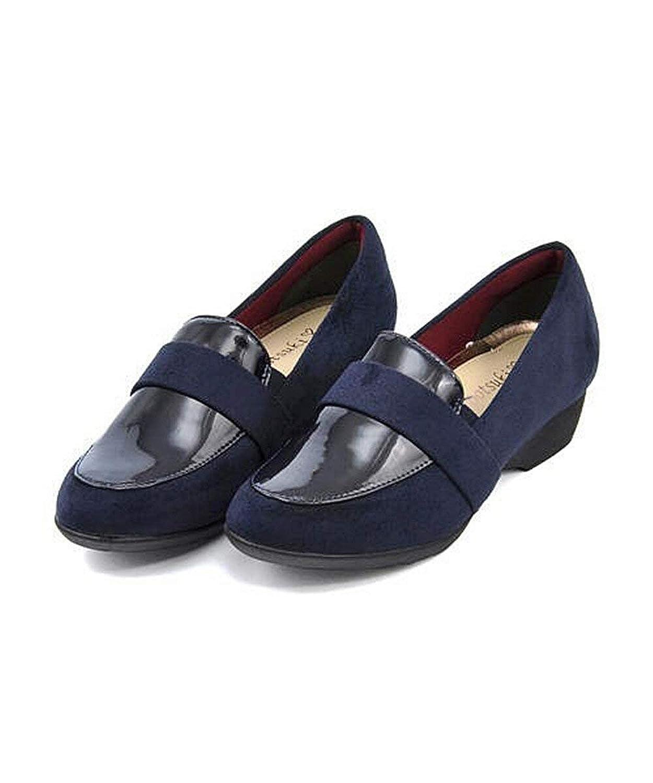 [フットスキ] レディース ローファー パンプス 痛くない ウェッジソール 歩きやすい 疲れない クッション性 美脚 カジュアル デイリー トレンド FS-16800