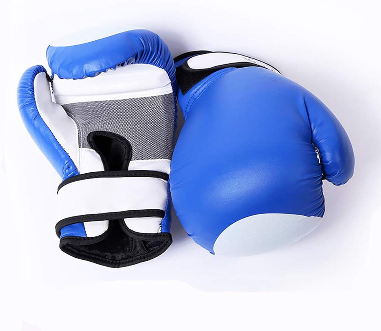 XJJ Boxhandschuhe, Sanda-Handschuhe, Handschuhe für Erwachsene, Trainingshandschuhe, 10 Unzen,Blau Unzen,Blau Unzen,Blau B07Q75XQ91  Zart 06d2ba