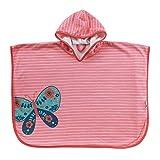 Schlummersack kuschelig weicher Badeponcho mit Kapuze - Schmetterling - für Mädchen von 1-3 Jahre